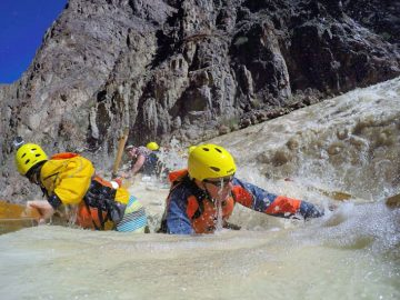 Sockdolager Rapid on a Grand Canyon rafting trip