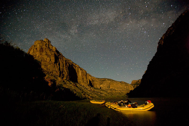 Yampa River Rafting Starry Sky