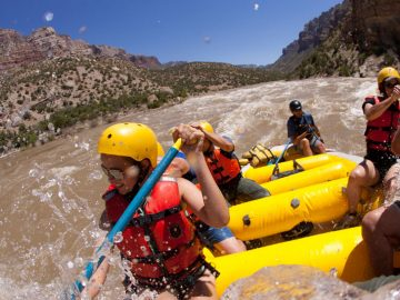 Split Mountain Rafting on the Green River in Utah