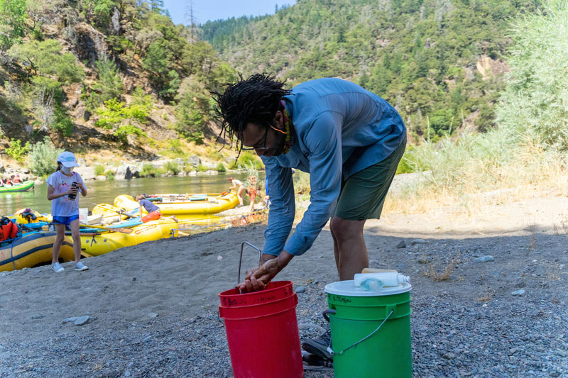 Maintaining hygiene on river trips