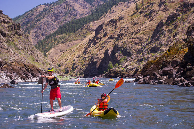 Boat options on a Lower Salmon River rafting trip