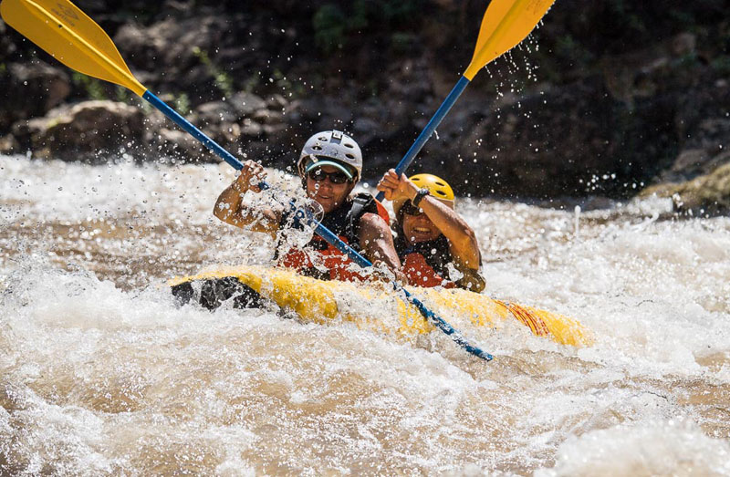 Inflatable kayaking on the Green River in Dinosaur National Monument