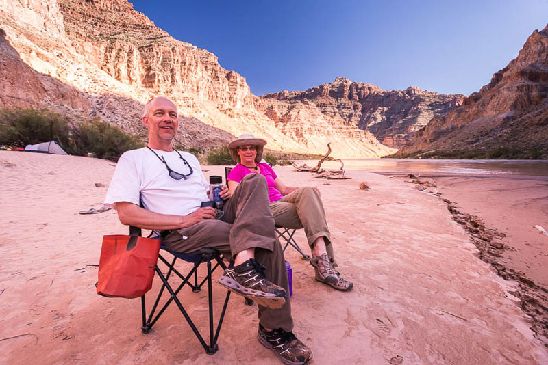 Relaxing in the heart of Canyonlands on a Cataract Canyon rafting trip