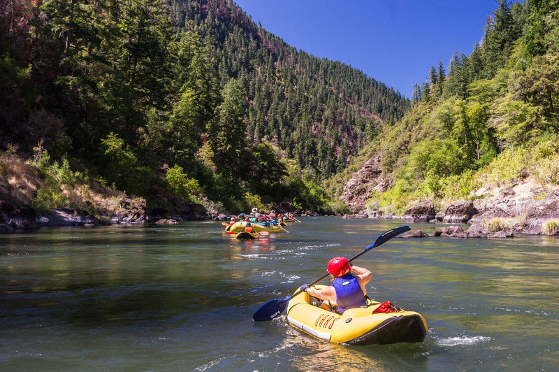 Family-friendly rafting in Oregon on the Rogue River