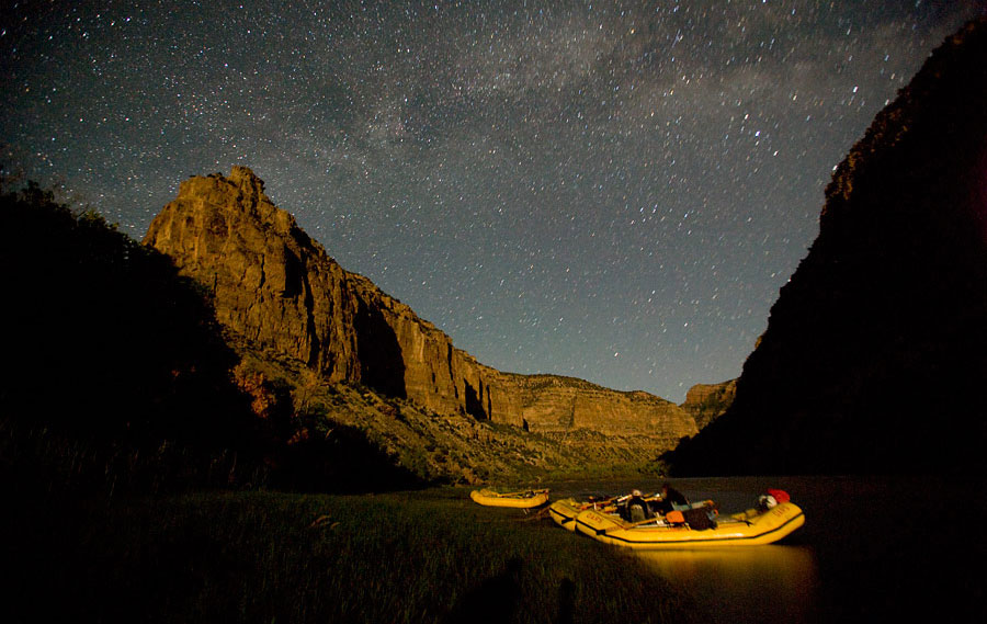 Night sky at Dinosaur National Monument - Yampa River