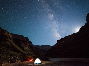 Milky Way on a Grand Canyon rafting trip