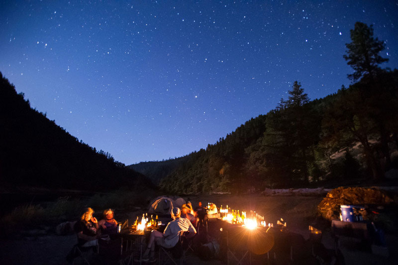 Rogue River rafting trip under the stars