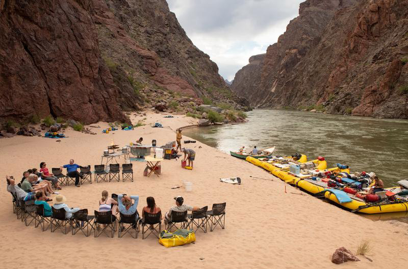 River camp in Grand Canyon