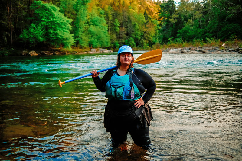 Plus-size river guide and adventurer Ashley Manning
