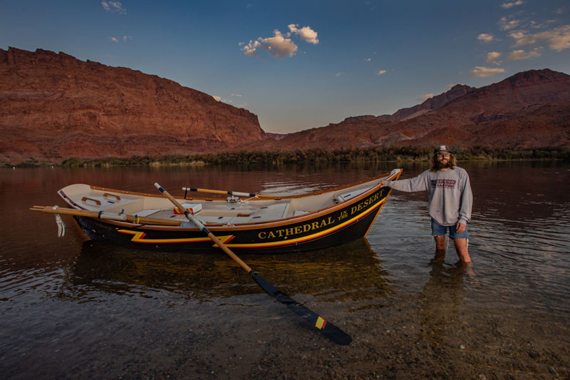 OARS guide and skilled dory builder, Sean Bothman, who built Cathedral in the Desert